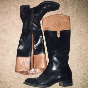 Franco sarto two tone below the knee boots
